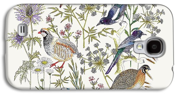 Woodland Edge Birds Placement Galaxy S4 Case by Jacqueline Colley