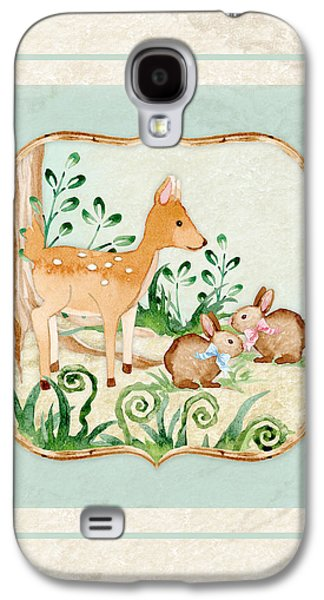 Woodland Fairy Tale - Deer Fawn Baby Bunny Rabbits In Forest Galaxy S4 Case