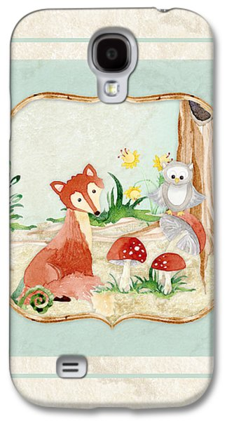 Woodland Fairy Tale - Fox Owl Mushroom Forest Galaxy S4 Case by Audrey Jeanne Roberts