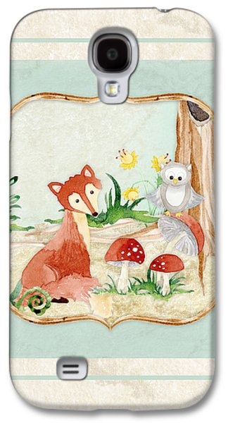 Woodland Fairy Tale - Fox Owl Mushroom Forest Galaxy S4 Case