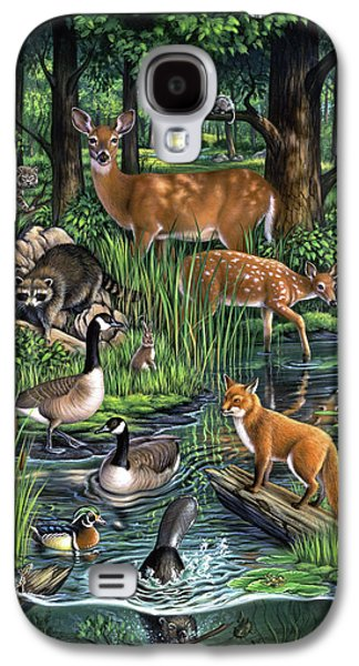 Geese Galaxy S4 Case - Woodland by Jerry LoFaro