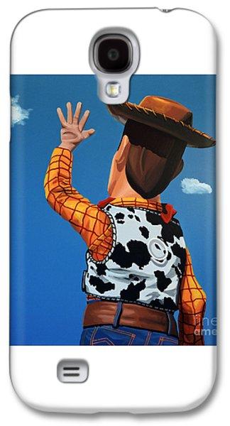 Woody Of Toy Story Galaxy S4 Case by Paul Meijering