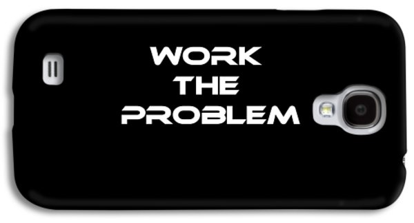 Work The Problem The Martian Tee Galaxy S4 Case by Edward Fielding