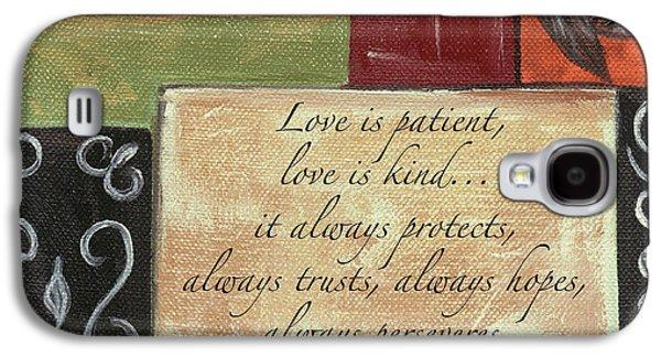Words To Live By Love Galaxy S4 Case by Debbie DeWitt