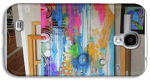 Galaxy S4 Case - Working On A New Plywood..5 Ft X 3.5 Ft by Robin Mead