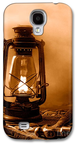 Working On The Railroad - Sepia Galaxy S4 Case by Olivier Le Queinec