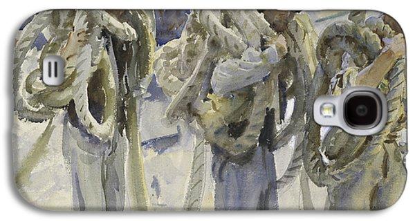 Workmen At Carrara Galaxy S4 Case by John Singer Sargent