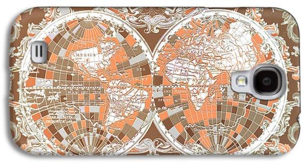 World Map Antique 2 Galaxy S4 Case by Bekim Art