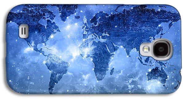 World Map Galaxy 9 Galaxy S4 Case