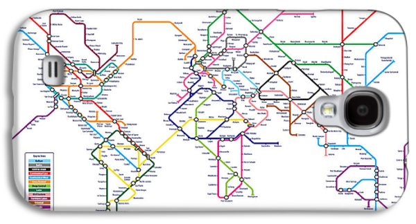 World Metro Tube Subway Map Galaxy S4 Case