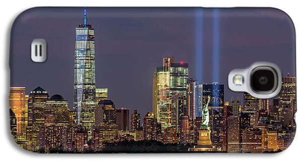 World Trade Center Wtc Tribute In Light Memorial Galaxy S4 Case by Susan Candelario
