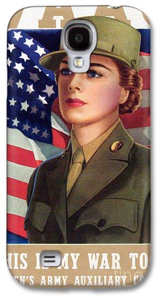 World War II Waac Poster This Is My War Too Galaxy S4 Case by American School