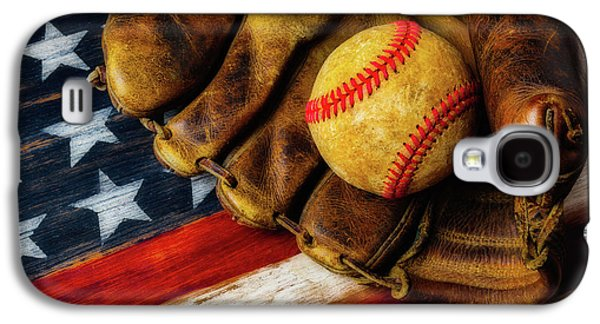 Worn Ball And Mitt Galaxy S4 Case by Garry Gay