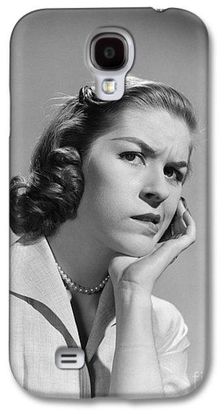 Worried Woman, C.1950-60s Galaxy S4 Case