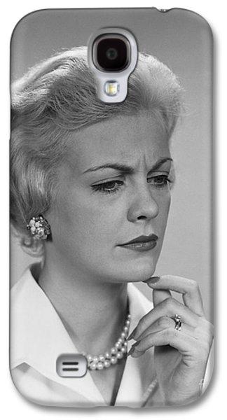 Worried Woman, C.1960s Galaxy S4 Case