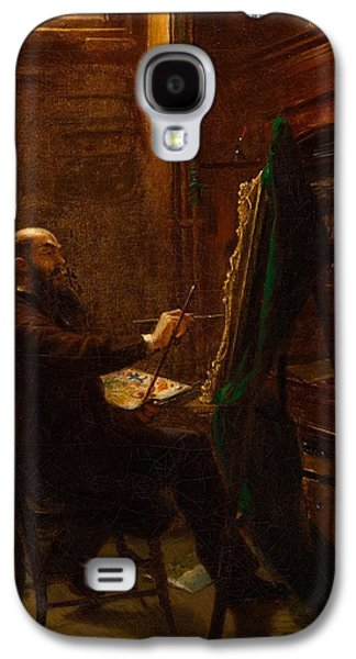 Worthington Whittredge In His Tenth Street Studio Galaxy S4 Case by MotionAge Designs