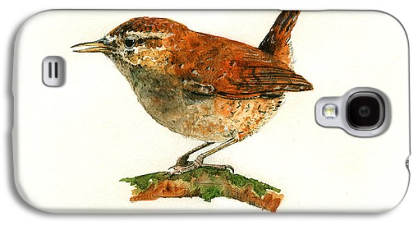 Wren Bird Art Painting Galaxy S4 Case