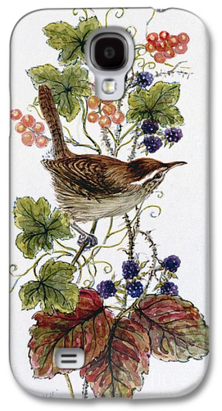 Wren On A Spray Of Berries Galaxy S4 Case