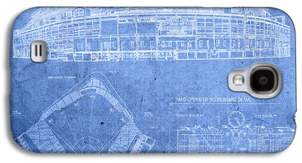 Wrigley Field Chicago Illinois Baseball Stadium Blueprints Galaxy S4 Case by Design Turnpike