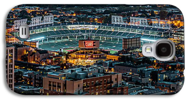 Wrigley Field From Park Place Towers Dsc4678 Galaxy S4 Case by Raymond Kunst