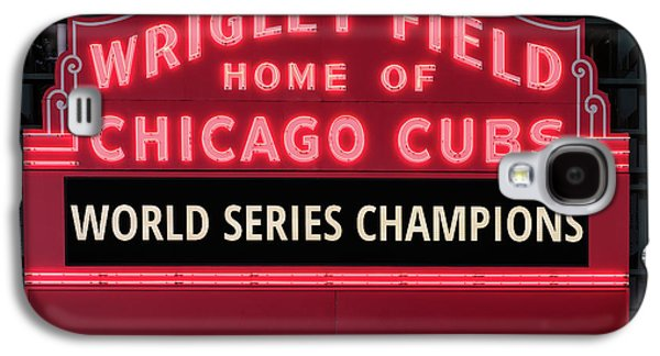 Wrigley Field Marquee Cubs World Series Champs 2016 Front Galaxy S4 Case