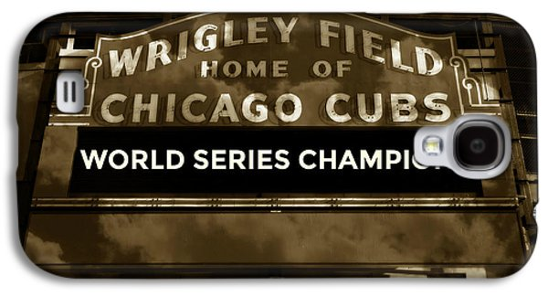 Wrigley Field Galaxy S4 Case - Wrigley Field Sign - Vintage by Stephen Stookey