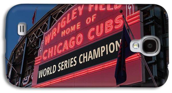 Wrigley Field World Series Marquee Galaxy S4 Case by Steve Gadomski