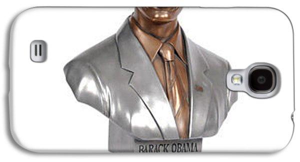 Joe Biden Galaxy S4 Case - Obama Bronze Bust by Dothlyn Morris Sterling