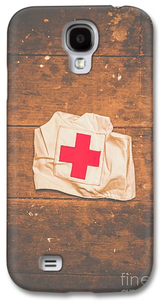 Ww2 Nurse Cap Lying On Wooden Floor Galaxy S4 Case