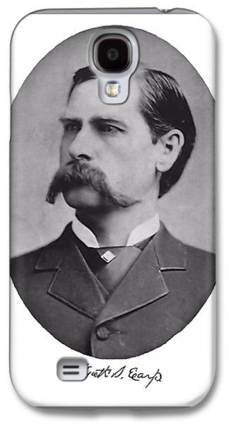 Wyatt Earp Autographed Galaxy S4 Case by John Feiser