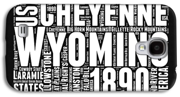 Wyoming Black And White Word Cloud Map Galaxy S4 Case