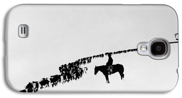 Horse Galaxy S4 Case - Wyoming: Cattle, C1920 by Granger