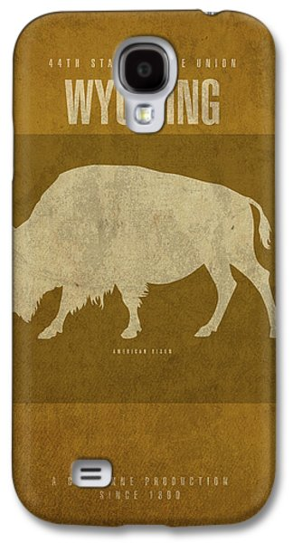 Wyoming State Facts Minimalist Movie Poster Art Galaxy S4 Case