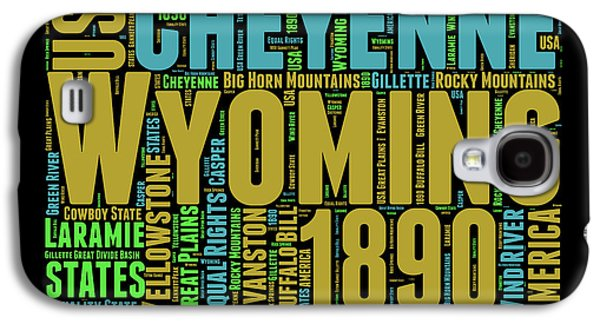 Wyoming Word Cloud Map 1 Galaxy S4 Case