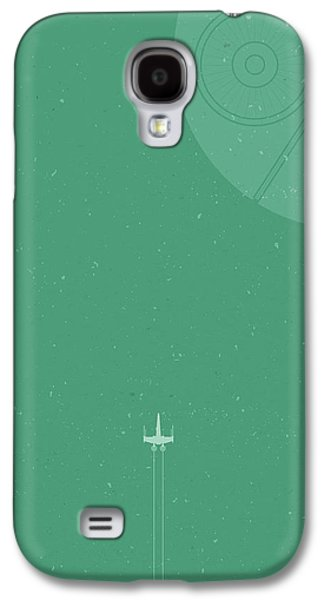 X-wing Meets Death Star Galaxy S4 Case by Samuel Whitton