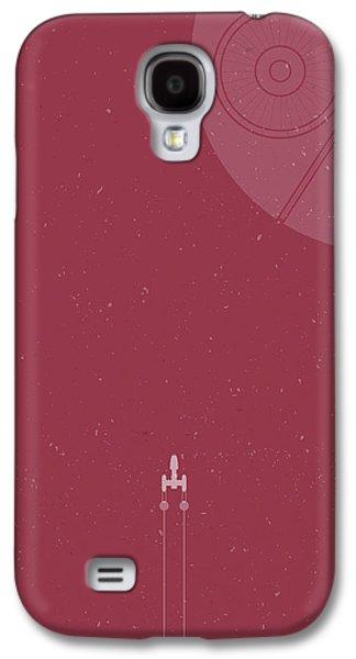 Y-wing Bomber Meets Death Star Galaxy S4 Case