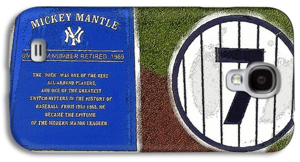 Yankee Legends Number 7 Galaxy S4 Case by David Lee Thompson