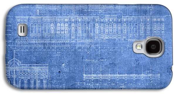 Yankee Stadium New York City Blueprints Galaxy S4 Case by Design Turnpike