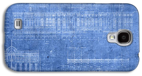 Yankee Stadium New York City Blueprints Galaxy S4 Case