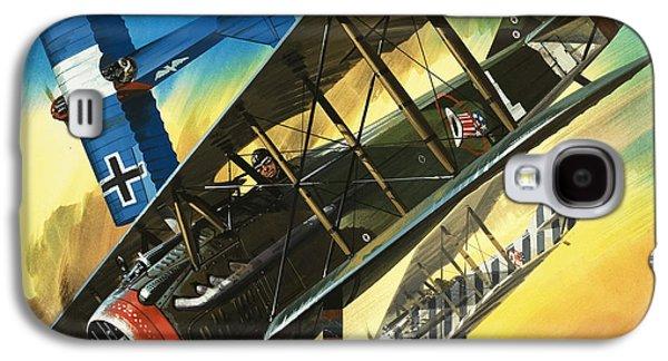 Yankee Super Ace Edward Rickenbacker Galaxy S4 Case by Wilf Hardy