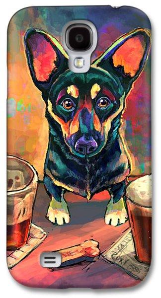 Dogs Digital Art Galaxy S4 Cases - Yappy Hour Galaxy S4 Case by Sean ODaniels