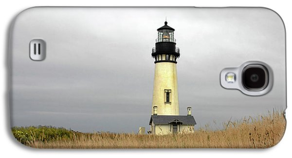 Coast Highway One Galaxy S4 Cases - Yaquina Lighthouses - Yaquina Head Lighthouse Western Oregon Galaxy S4 Case by Christine Till