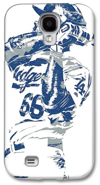 Yasiel Puig Los Angeles Dodgers Pixel Art 10 Galaxy S4 Case