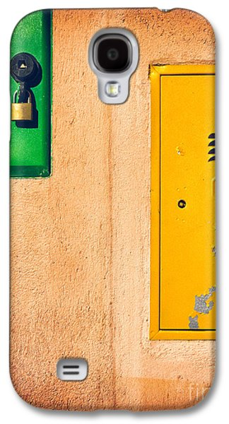 Yellow And Green Galaxy S4 Case by Silvia Ganora