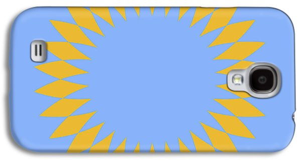 Mandala Yellow And Light Blue Abstract Square Galaxy S4 Case
