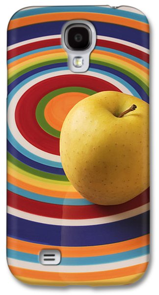 Apple Galaxy S4 Case - Yellow Apple  by Garry Gay