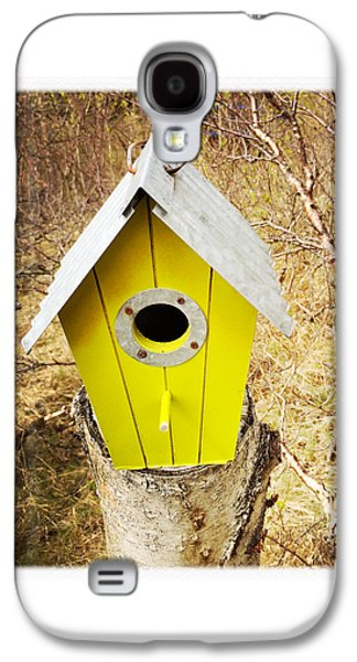 House Galaxy S4 Case - Yellow Bird House by Matthias Hauser