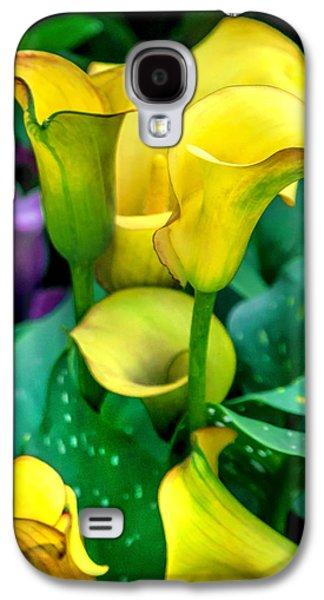 Yellow Calla Lilies Galaxy S4 Case by Az Jackson