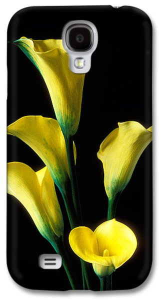 Lily Galaxy S4 Case - Yellow Calla Lilies  by Garry Gay