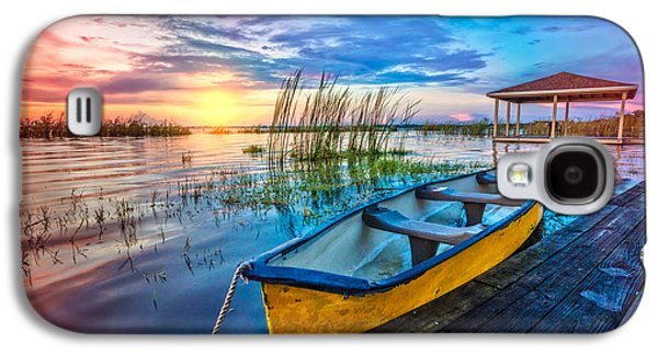 Yellow Canoe Galaxy S4 Case by Debra and Dave Vanderlaan